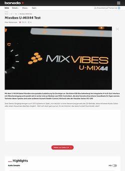 Bonedo.de Mixvibes U-MIX44