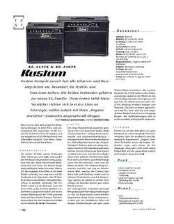 Gitarre & Bass Kustom KG-112FX & KG-210FX, Gitarren-Combos