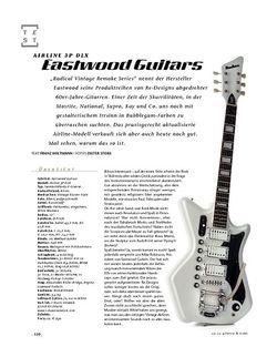 Gitarre & Bass Eastwood Guitars Airline 3P DLX, E-Gitarre