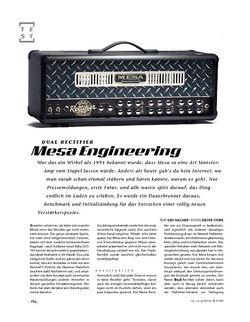 Gitarre & Bass Mesa Engineering Dual Rectifier, Tube-Head