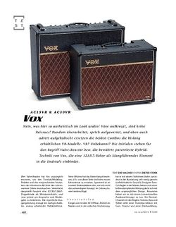 Gitarre & Bass Vox AC30VR/AC15VR, Hybrid-Combos