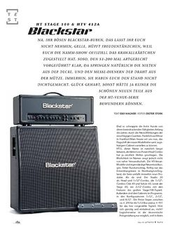 Gitarre & Bass Blackstar HT Stage 100 & HTV 412A, Tube-Stack