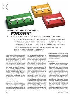 Gitarre & Bass Palmer Triage, Trinity & Thruster