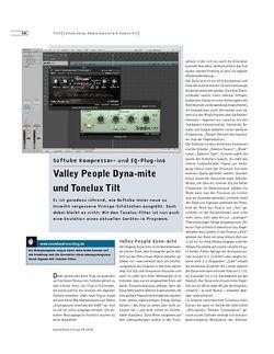 Sound & Recording Valley People Dyna-mite und Tonelux Tilt
