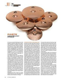 Sticks Paiste Alpha Brilliant Cymbals