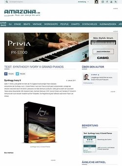 Amazona.de Test: Synthogy Ivory II Grand Pianos