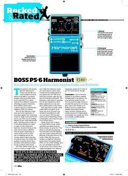 Total Guitar BOSS PS 6 Harmonist