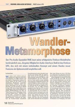 Professional Audio Wandler- Metamorphose: RME Fireface UFX