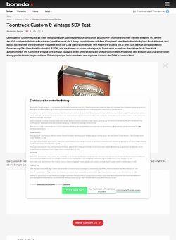 Bonedo.de Toontrack Custom & Vintage SDX