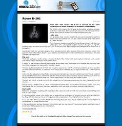 MusicRadar.com Royer R-101