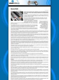 MusicRadar.com Zoom R24