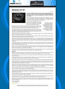 MusicRadar.com Blackstar HT-1R