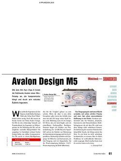 Soundcheck Minicheck: Avalon Design M5