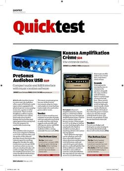 Guitarist PreSonus Audiobox USB