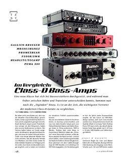 Gitarre & Bass Vergleichstest: Class-D-Basstops