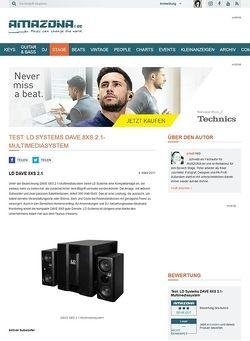 Amazona.de Test: LD Systems DAVE 8XS 2.1-Multimediasystem