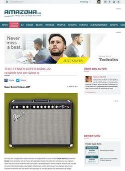 Amazona.de Test: Fender, Super-Sonic 22, Gitarrenverstärker