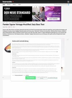 Bonedo.de Fender Squier Vintage Modified Jazz Bass