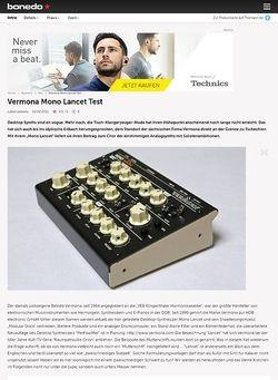 Bonedo.de Vermona Mono Lancet