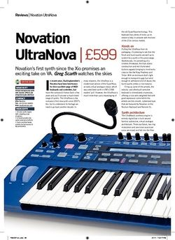 Future Music Novation UltraNova