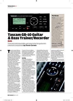 Guitarist Tascam GB 10