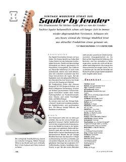 Gitarre & Bass Squier by Fender Vintage Modified Strat SSS, E-Gitarre