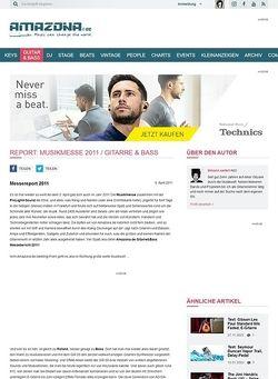 Amazona.de Report: Musikmesse 2011 / Gitarre & Bass