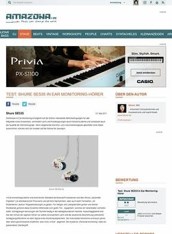 Amazona.de Test: Shure SE535 In Ear Monitoring-Hörer