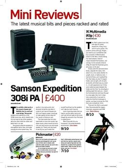 Future Music Samson Expedition 308i PA