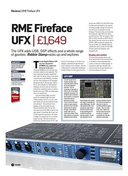 Future Music RME Fireface UFX