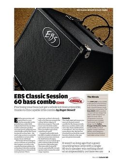 Guitarist EBS Classic Session 60 bass combo