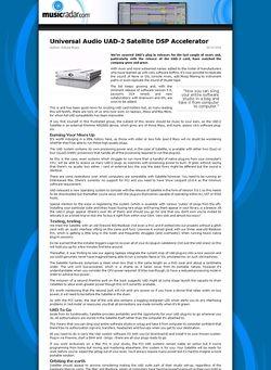 MusicRadar.com Universal Audio UAD-2 Satellite DSP Accelerator
