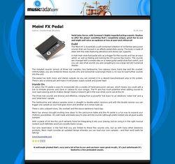 MusicRadar.com Meinl FX Pedal