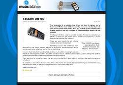 MusicRadar.com Tascam DR-05