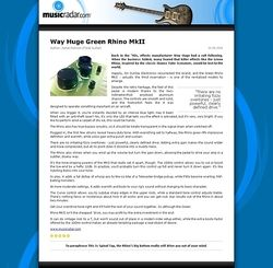 MusicRadar.com Way Huge Green Rhino MkII
