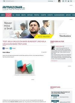 Amazona.de Test: Kala Ukulelen Bass Bundiert und Kala Ukulelen Bass Fretless