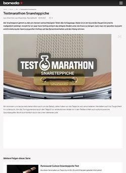 Bonedo.de Testmarathon Puresound-Snareteppiche