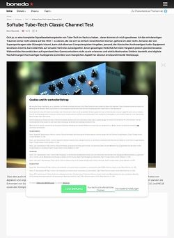 Bonedo.de Softube Tube-Tech Classic Channel