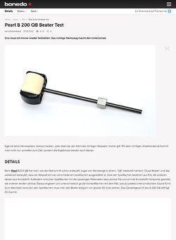 Bonedo.de Pearl B 200 QB