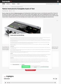 Bonedo.de Native Instruments Komplete Audio 6
