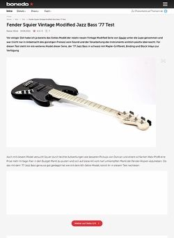 Bonedo.de Fender Squier Vintage Modified Jazz Bass '77