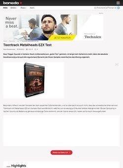 Bonedo.de Toontrack Metalheads EZX