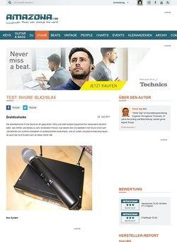 Amazona.de Test: Shure SLX2/SLX4