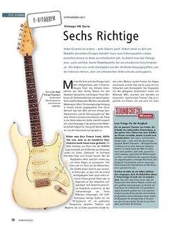 Soundcheck Test: Vintage V6 Serie - Sechs Richtige