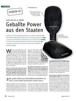 Soundcheck Test: Audix D4, D6, f6, ADX60 - Geballte Power aus den Staaten