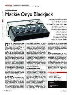 KEYS Mackie Onyx Blackjack