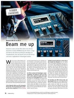 Soundcheck Test: Roland GR-55 & GK-3 - Beam Me Up