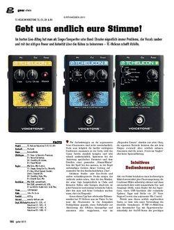 Guitar gear Effekte - TC-Helicon Voicetone T1, C1, D1 & R1