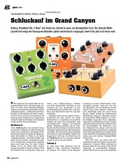 Guitar gear Effekte - T-Rex Mudhoney II, Twister 2, Reptile 2, Replica