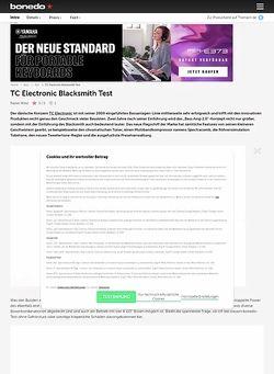 Bonedo.de TC Electronic Blacksmith